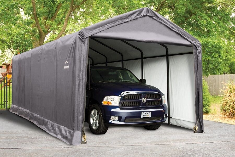 Portable Garage Canopy : Shelterlogic square tube max strength portable