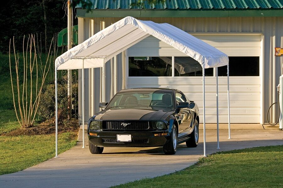 Garage Canopy Attachments : Shelterlogic leg canopy carport portable garage