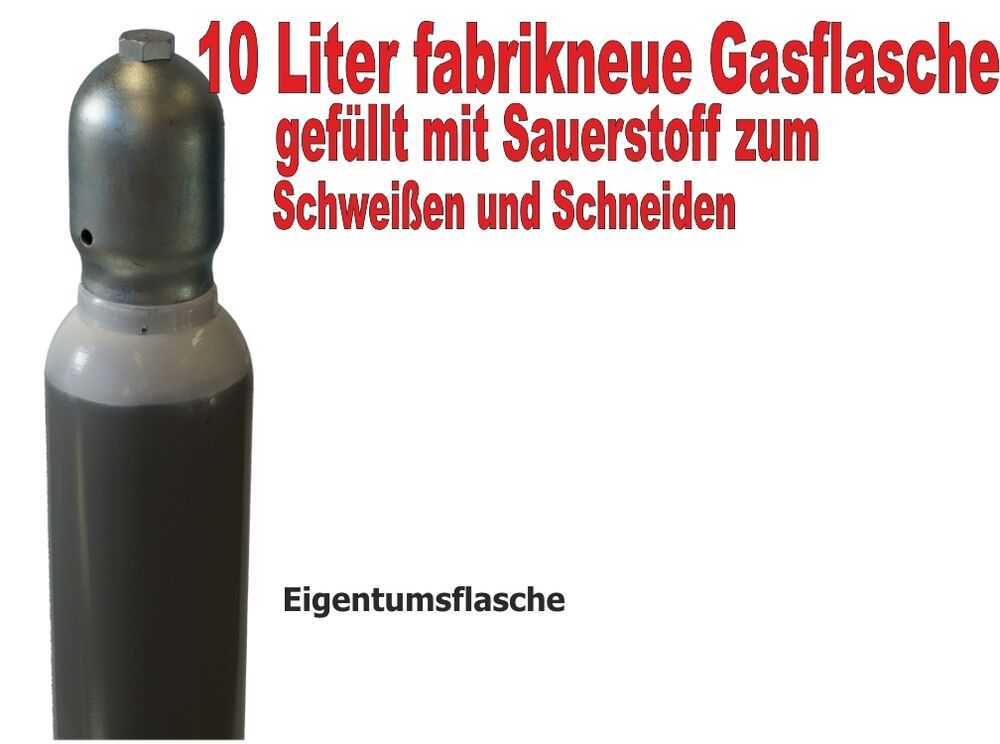 sauerstoffflasche 10 liter gasflasche schwei en und. Black Bedroom Furniture Sets. Home Design Ideas