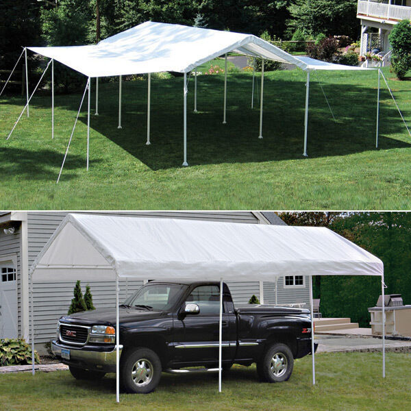 10x20 Portable Carport Failure : Shelterlogic leg canopy with extension kit