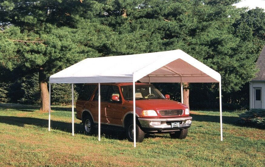 10x20 Portable Carport Failure : Shelterlogic leg commercial grade canopy carport