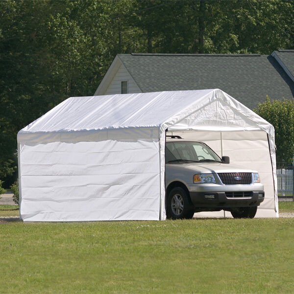 10x20x8 Shelterlogic 8 Leg Commercial Grade Canopy With