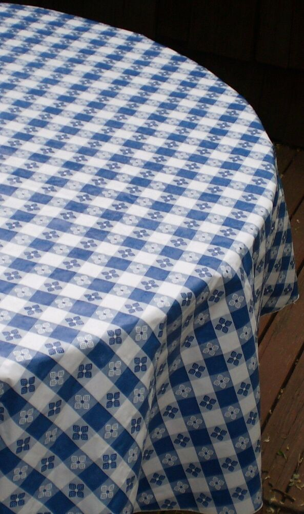 120 Quot Round Classic Tavern Check Flannel Backed Vinyl