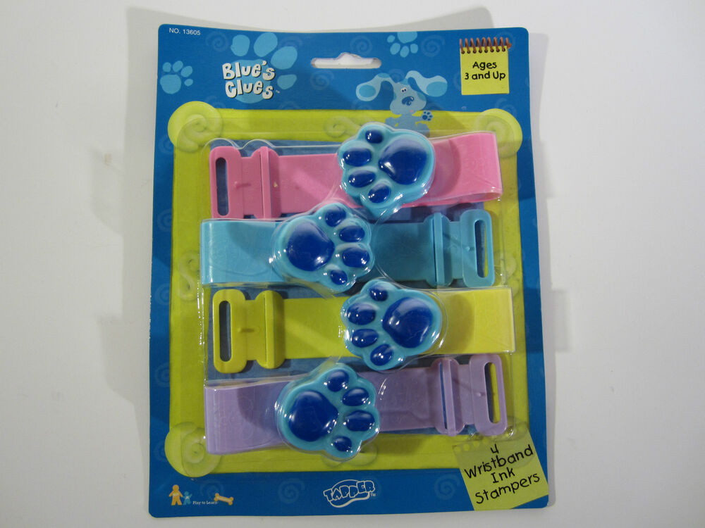 NEW Blues Clues Party Toy Wristband INK Stampers Set MINT ...