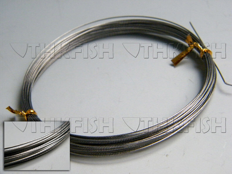 New 10m 11yard 60lbs silver stainless steel wire leader for Steel fishing leader