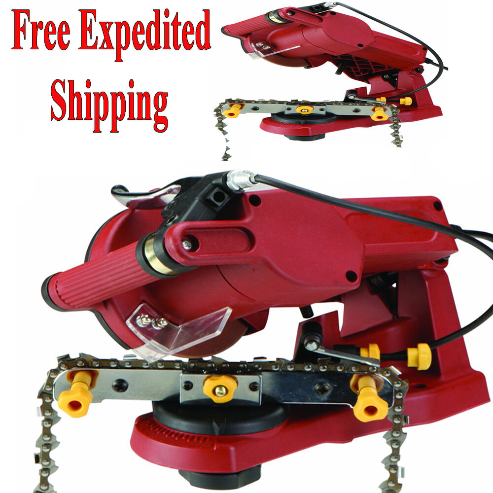 Electric Chain Saw Sharpener Grinder Chainsaw Mount To