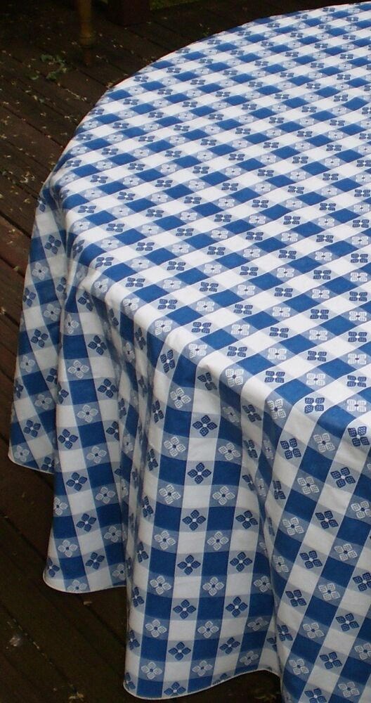 70 Quot Round Classic Tavern Check Flannel Backed Vinyl