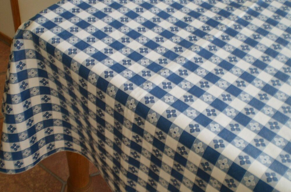 52 x120 classic tavern check flannel backed vinyl table for Tablecloth 52 x 120