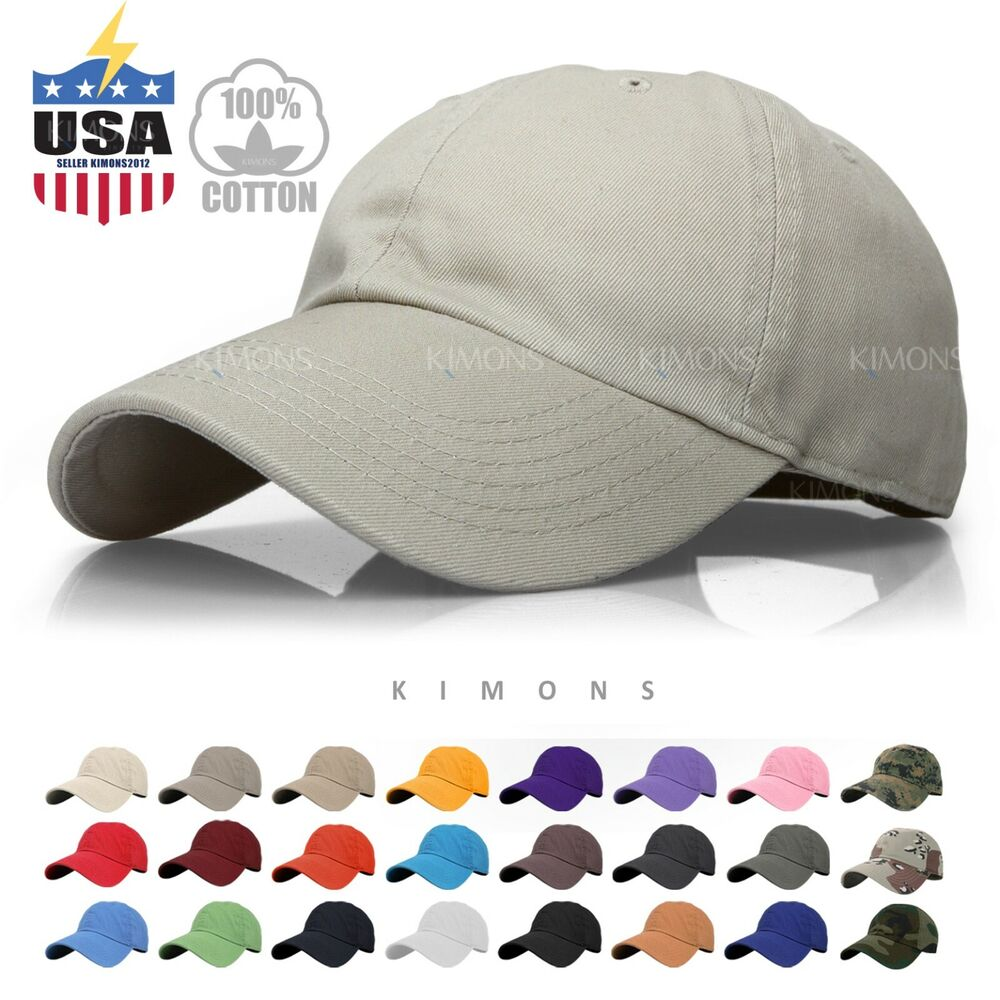 Details about Cotton Baseball Cap Solid Plain men women Visor Ball Hat Dad  Hat polo Washed 59341a7db6f5