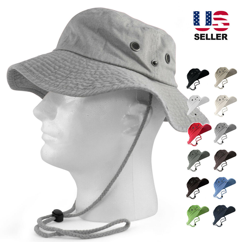 100 Cotton Safari Hats Bucket Wide Brim Fishing Bucket