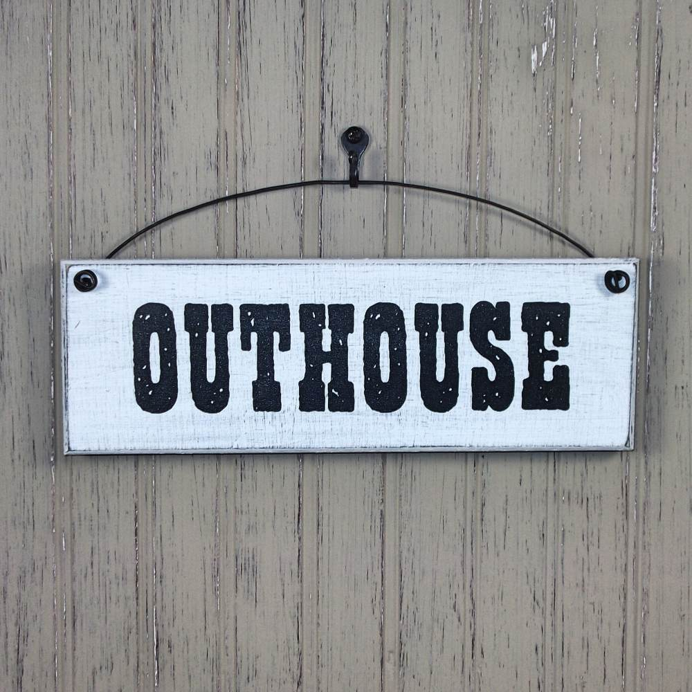 Outhouse sign farmhouse style signs bathroom wall decor for I sign decoration