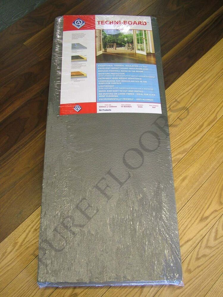 Techni Board Flooring Underlay 4 Packs Laminate Wood