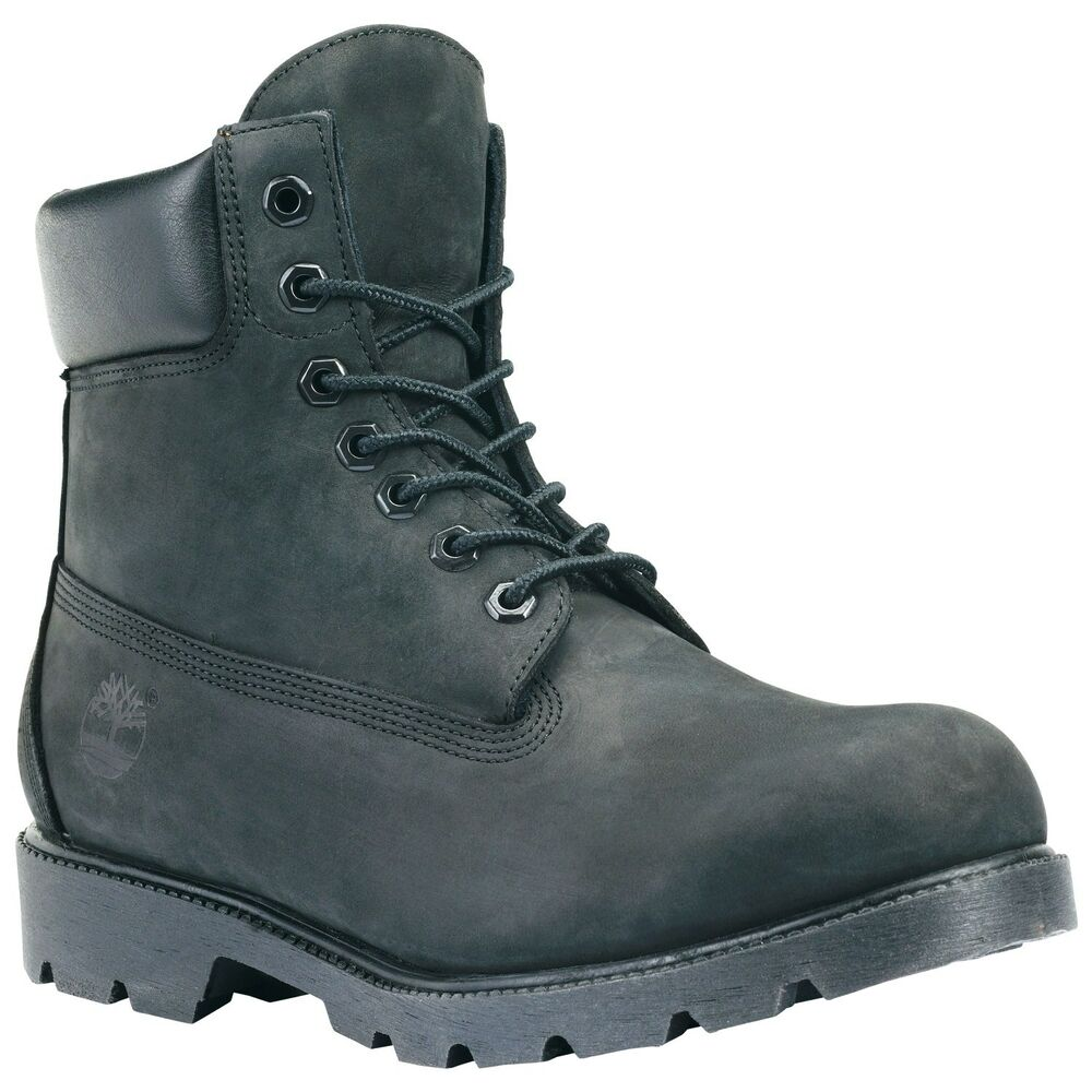 Timberland Mens Icon 6 Inch Work Boots Style 19039 - Black - All ...