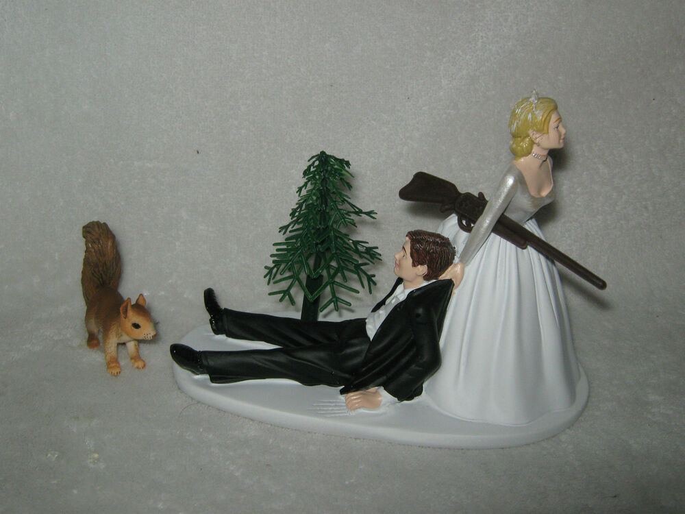 Wedding Party Reception Squirrel Cake Topper Hunter