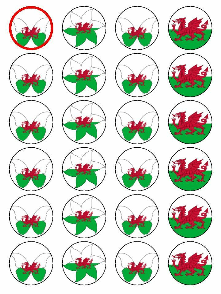 Wales Cake Toppers