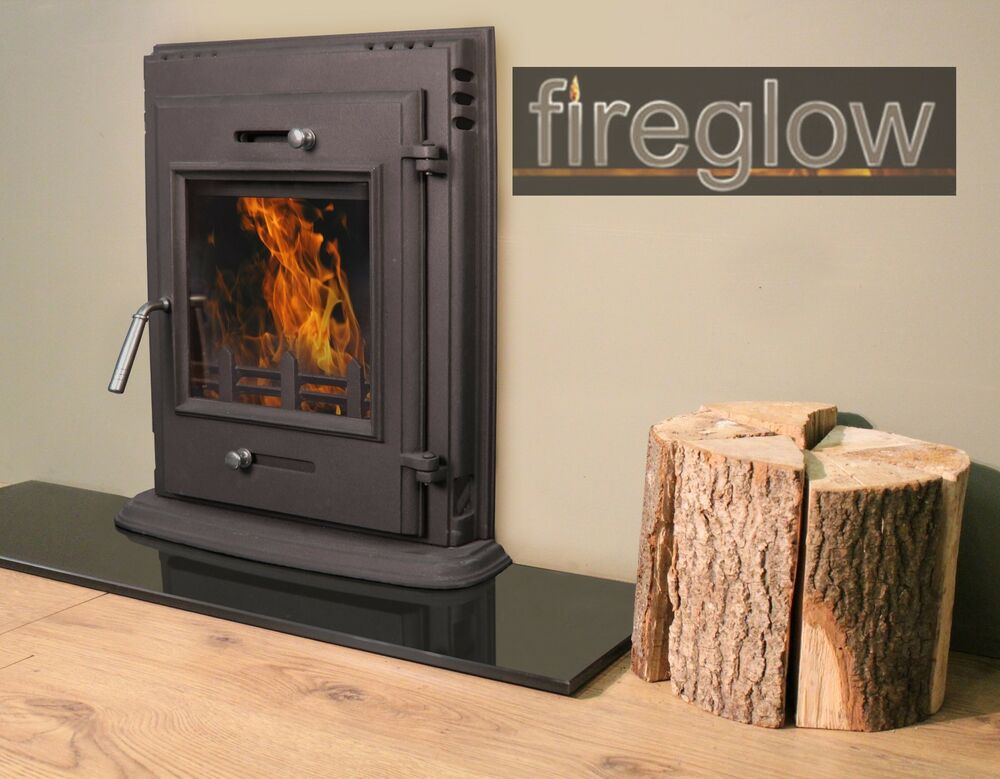 450 multifuel wood burning cast iron insert stove fireplace ebay