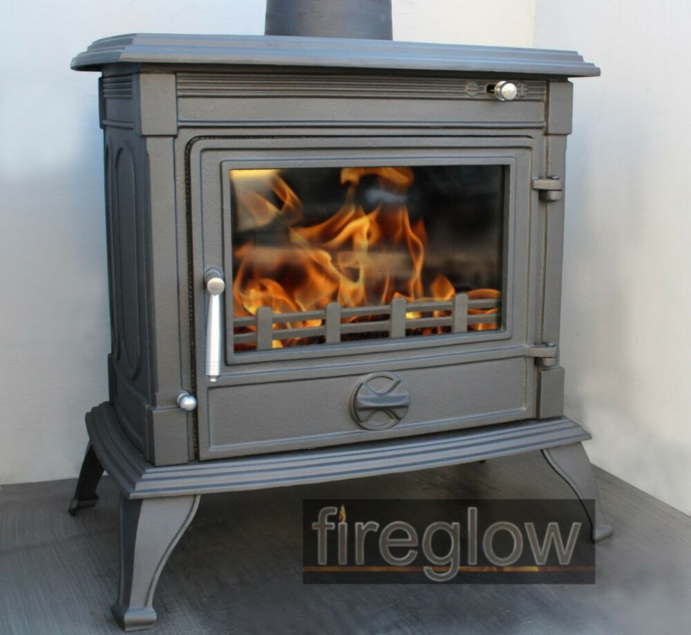 fireglow34 large 14kw multi fuel wood burner log burning