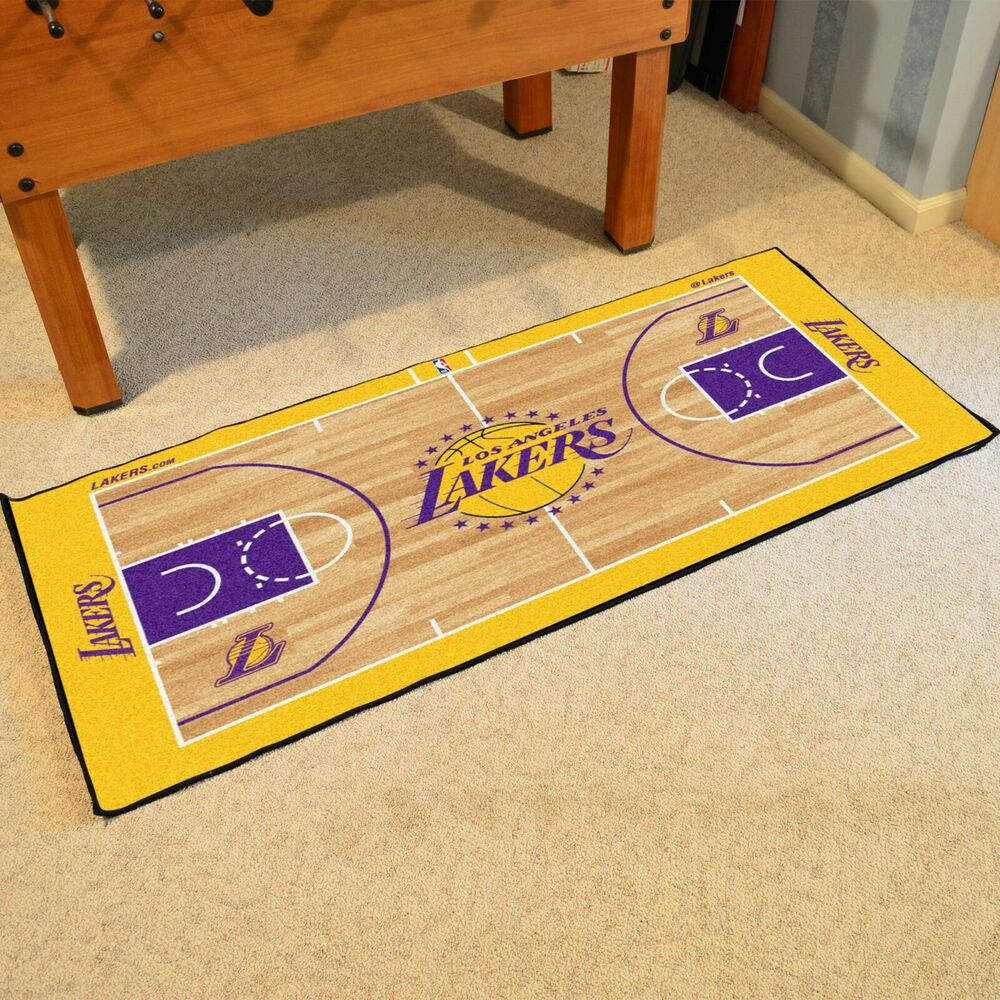 Los Angeles Lakers Large Basketball Court Runner Area Rug ...