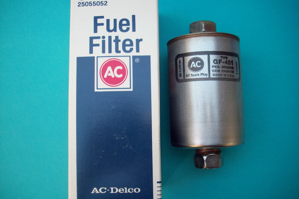 1 ac delco brand gf 481 fuel filter gm cars application. Black Bedroom Furniture Sets. Home Design Ideas