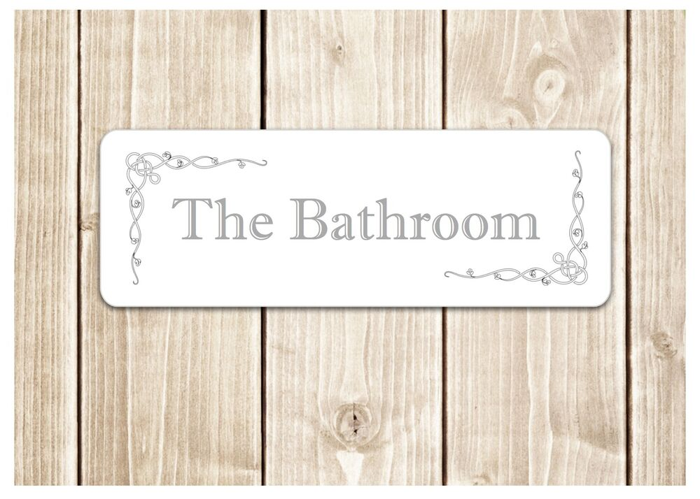 39 The Bathroom 39 Door Sign Metal Plaque For Toilet Or Bathroom Ebay