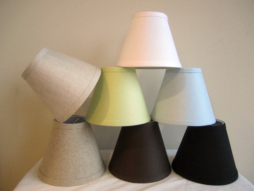 Urbanest Linen Mini Chandelier Lamp Shade Clip On
