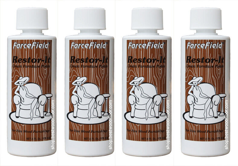 Forcefield restore it cream furniture polish 4 oz for fine wood furnishings ebay Cream wooden furniture