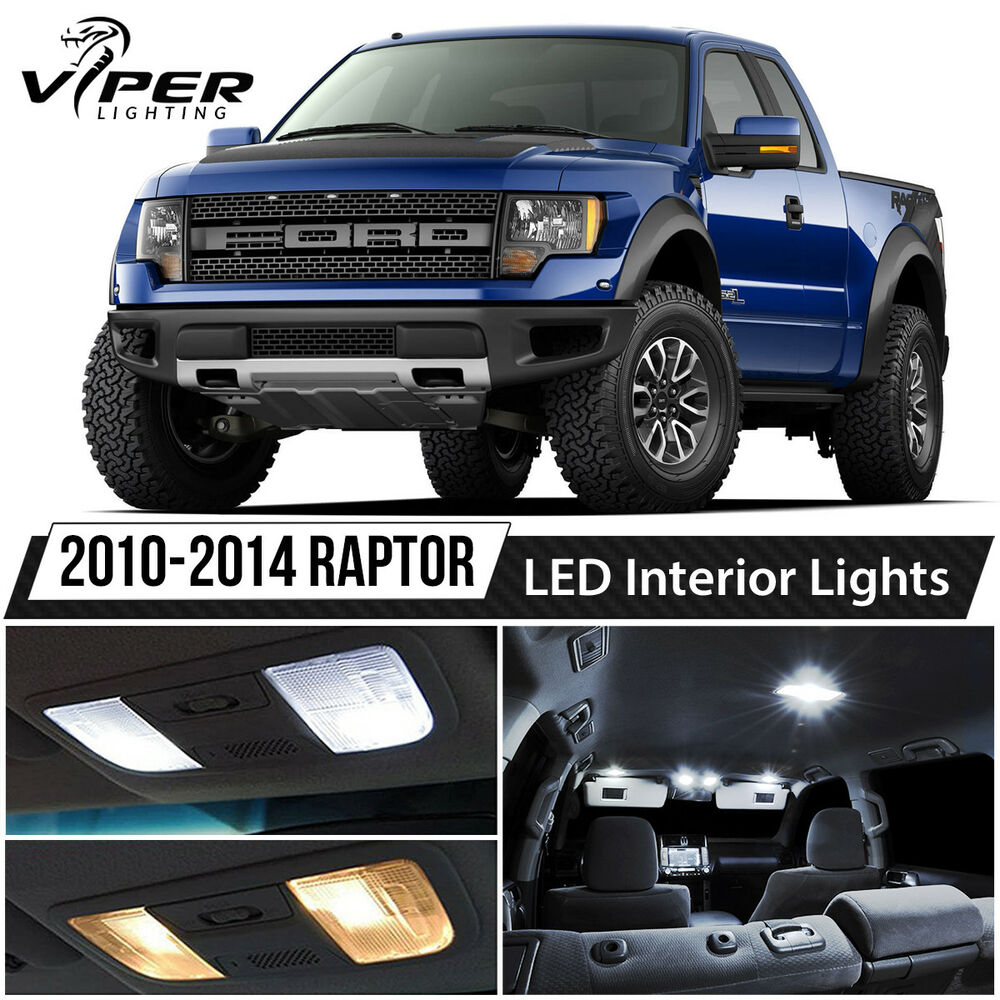 2010 2014 Ford F150 Svt Raptor White Led Lights Interior