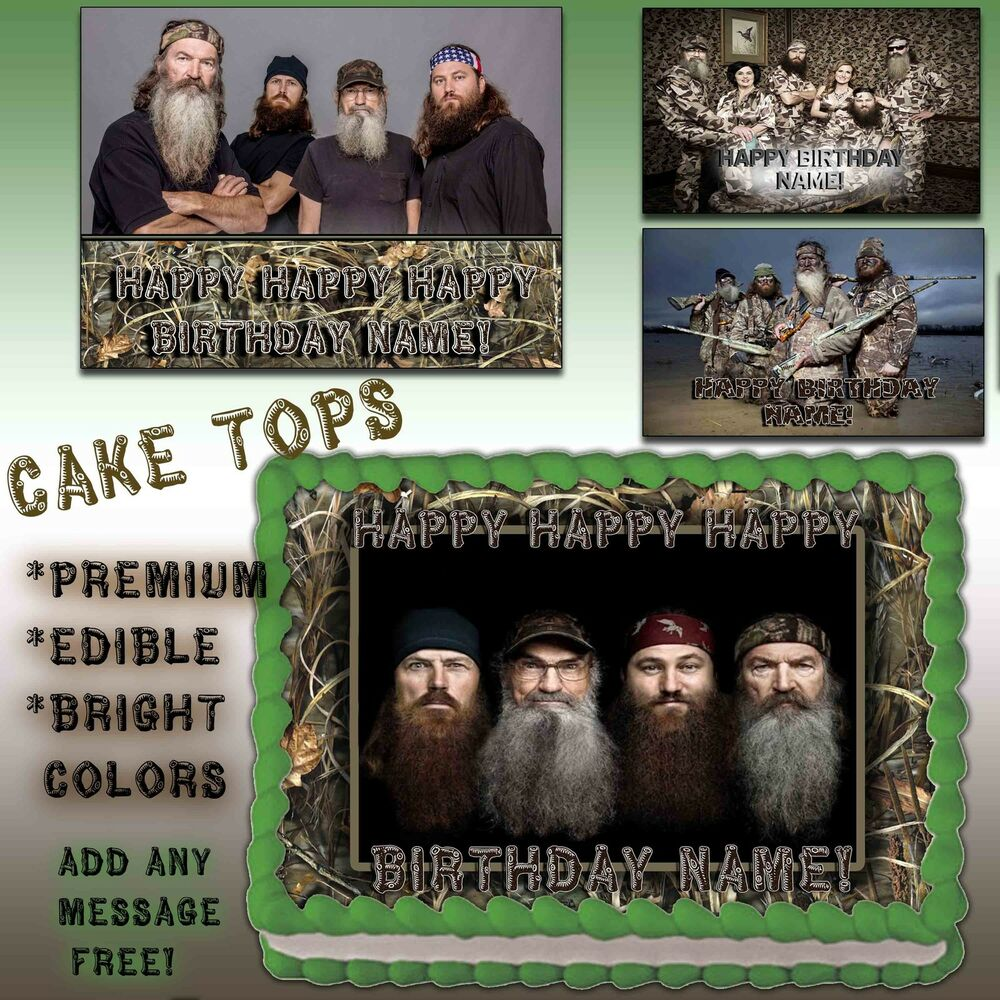 Duck Dynasty Cake Edible Topper Photo Image Icing Happy Birthday Decal Transfer Ebay