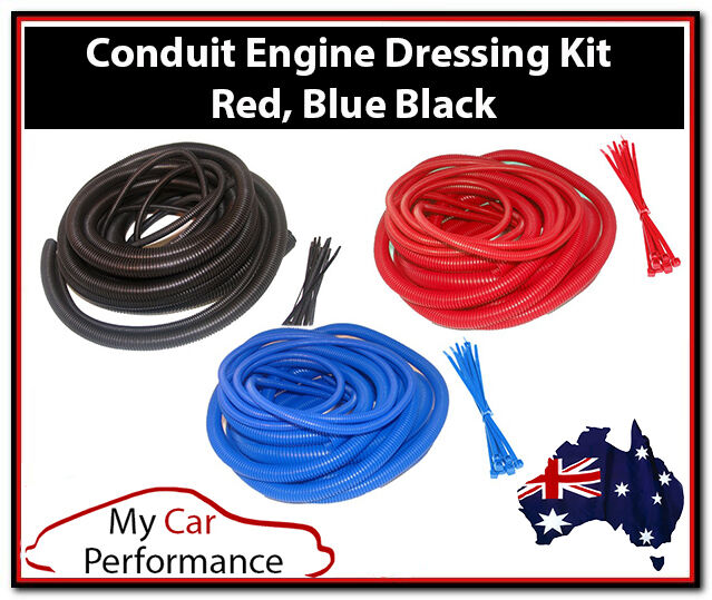 conduit engine dressing kits wire cable ties cover car. Black Bedroom Furniture Sets. Home Design Ideas