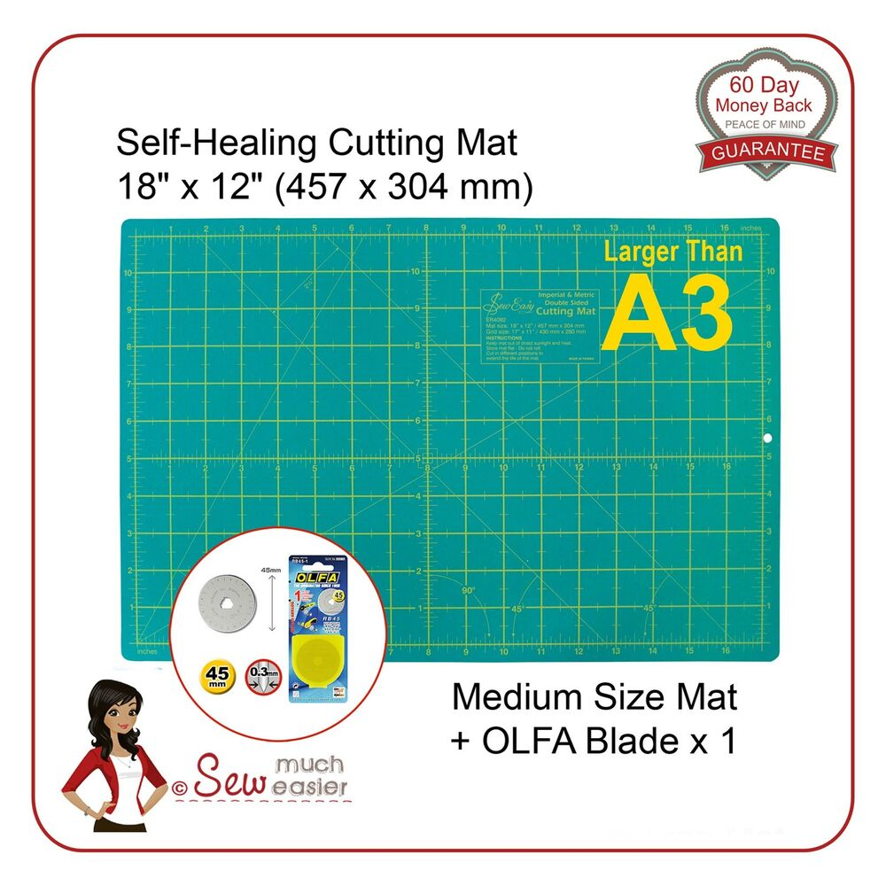 Self Healing Cutting Mat Gt A3 And Olfa 45mm Blade For