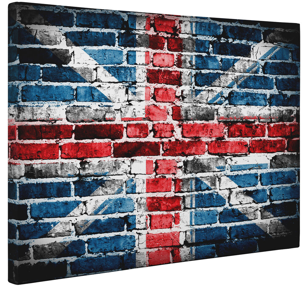 Abstract grunge union jack flag canvas print wall art for Abstract posters for sale