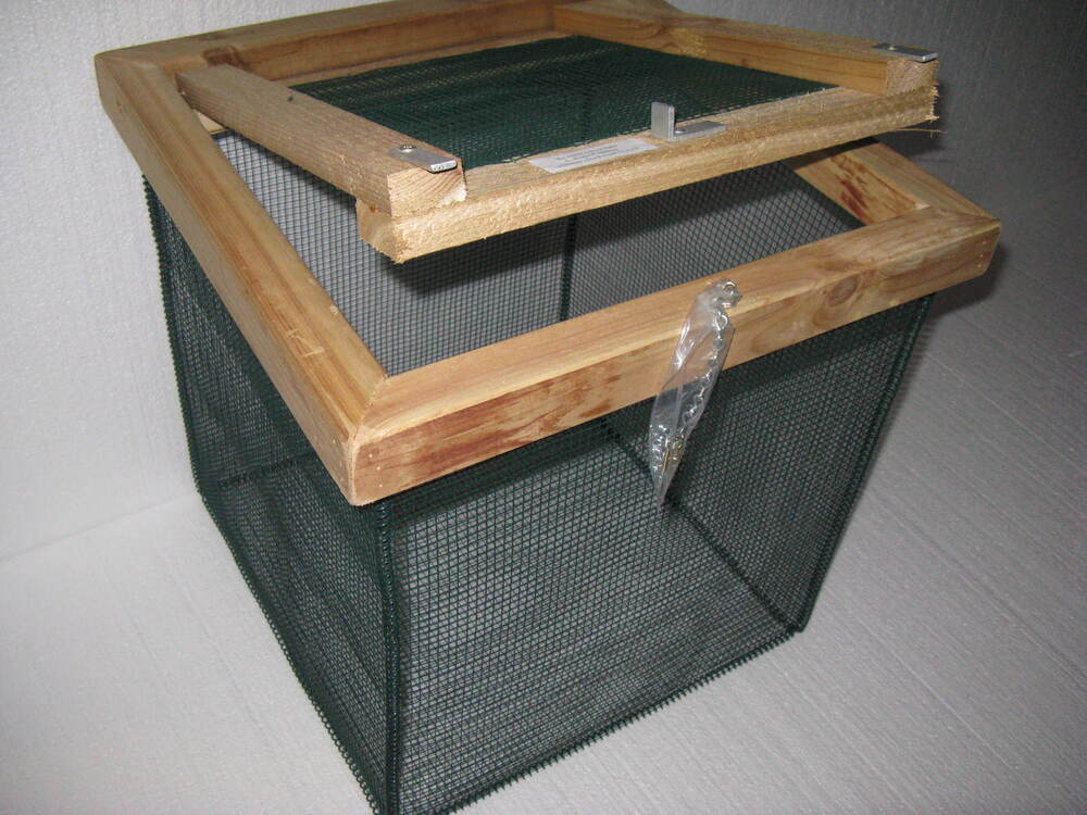 18 in best floating live minnow or pan fish basket with 1 for Floating fish basket