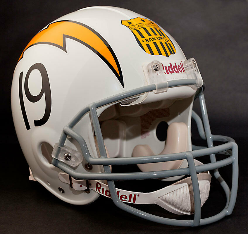 San Diego Chargers Football: SAN DIEGO CHARGERS 1963 Riddell AUTHENTIC Throwback