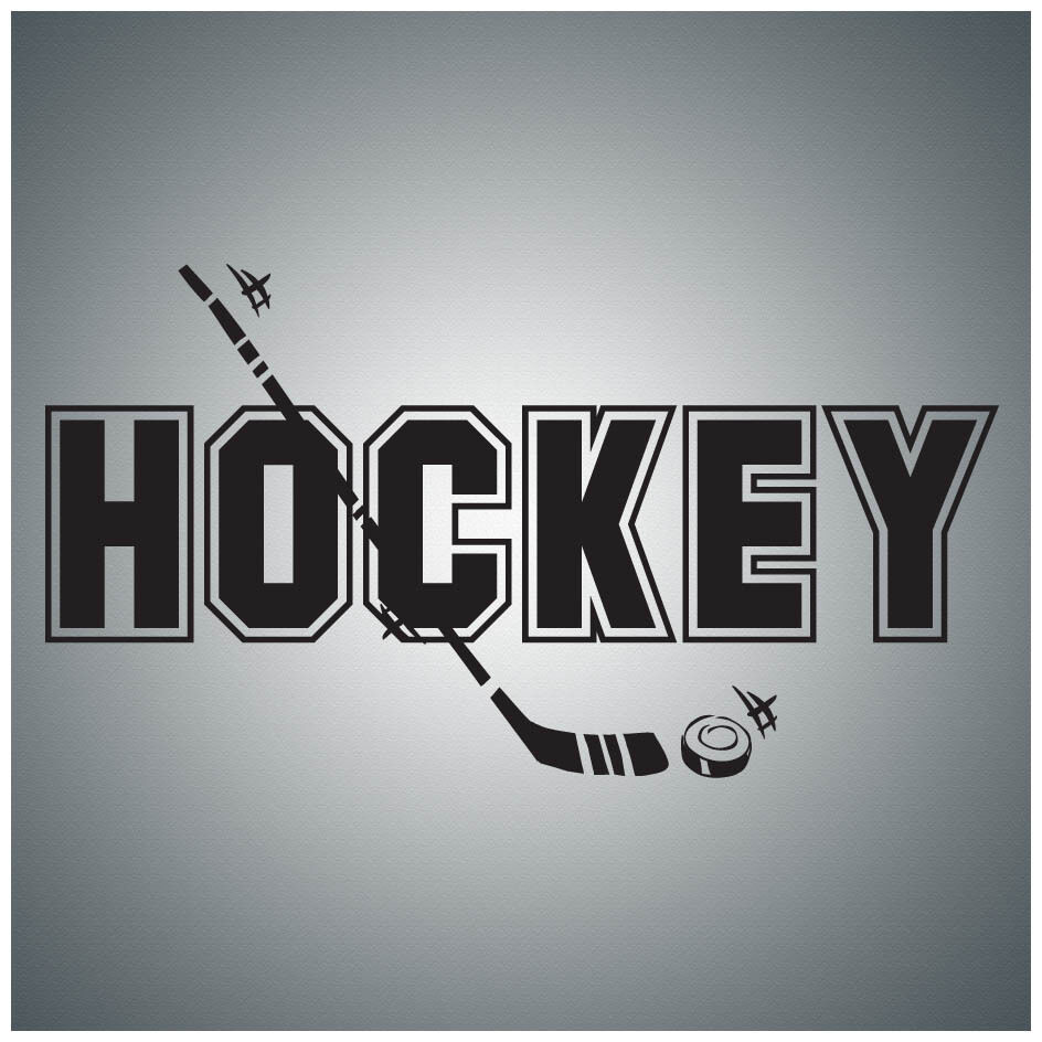 Hockey...WALL QUOTE DECAL VINYL LETTERING SAYING | eBay