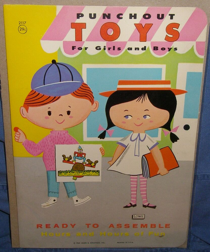 Toys For Boys Book : Vintage ultra rare punchout toys for boys and girls