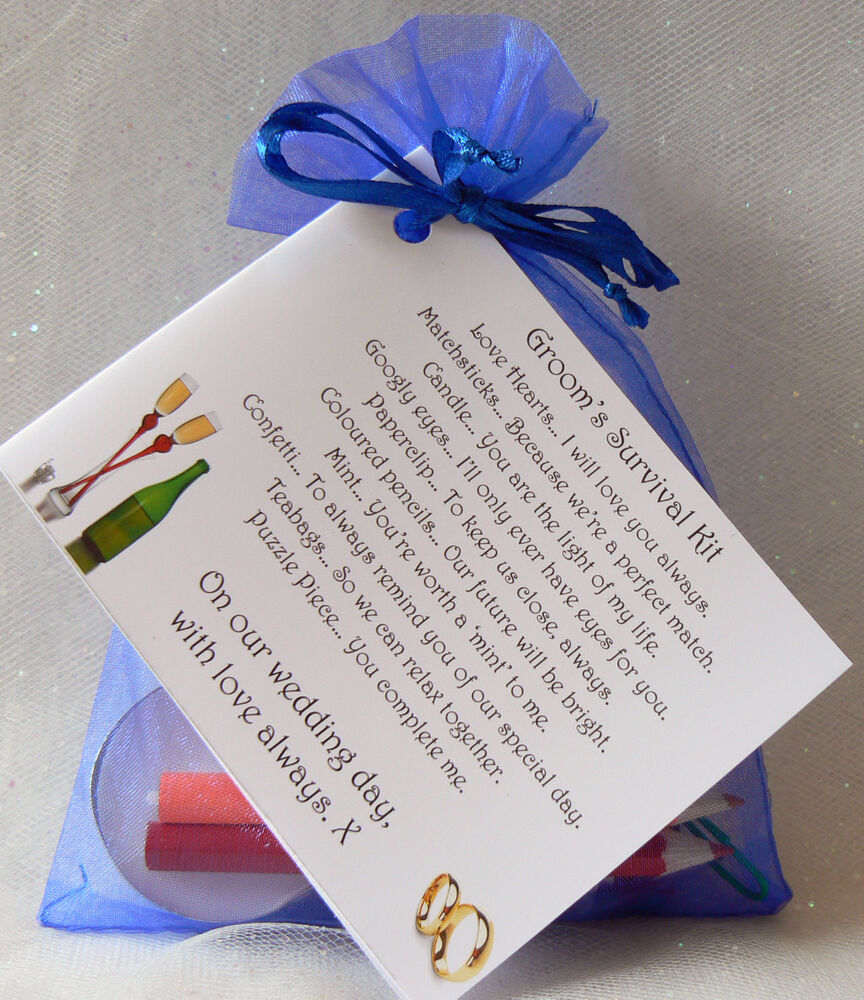 10 Groom Gifts To Surprise Your Man With On Your Wedding: Groom Survival Kit, Gift For Your Husband To Be. Lovely