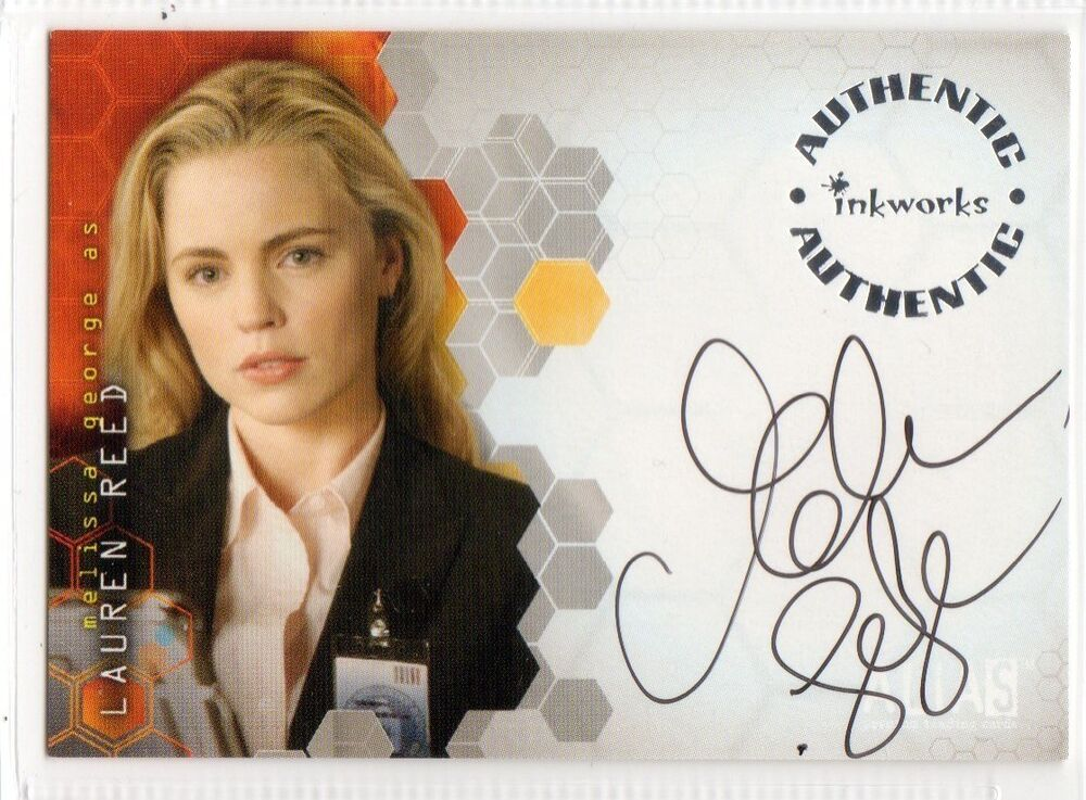 melissa george autogramm grey s anatomy in teatment ebay. Black Bedroom Furniture Sets. Home Design Ideas