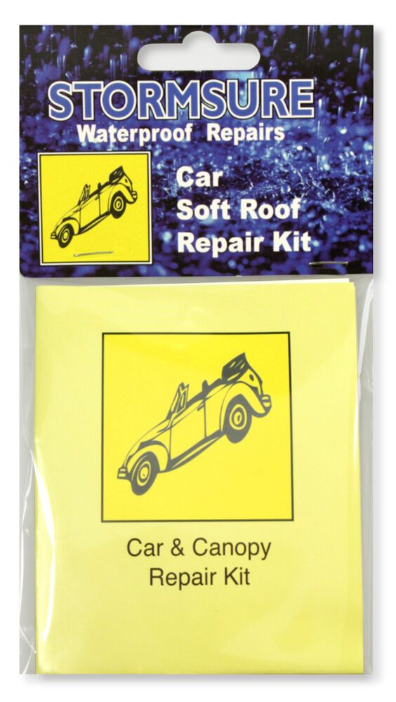 convertible soft car roof repair kit for fabric and windows ebay. Black Bedroom Furniture Sets. Home Design Ideas