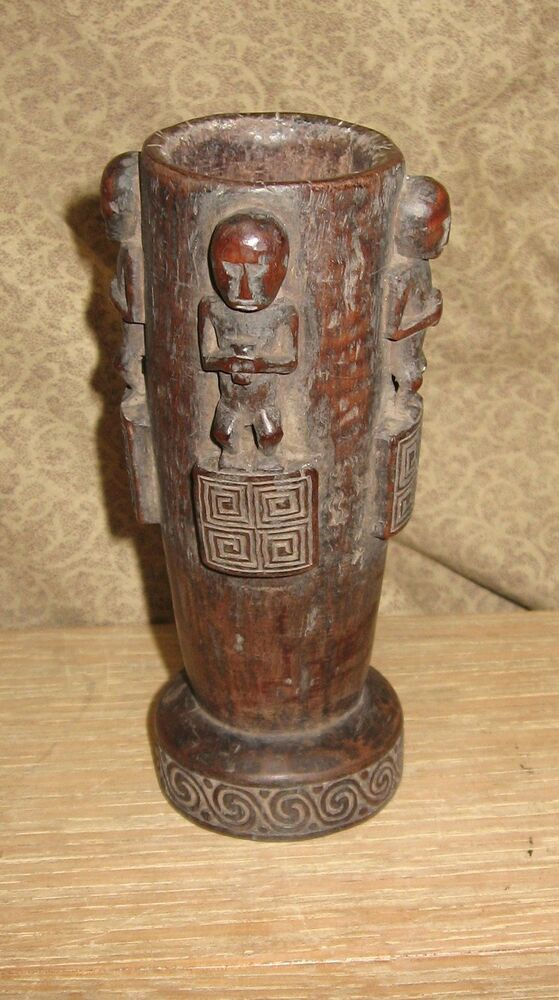 Old or Antique Tribal Wood Carving Cup or Pestle African ...