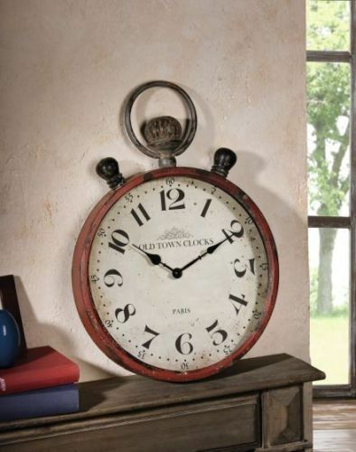 wanduhr taschenuhr xxl old town clock uhr uhren metalluhr shabby chic nostalgig ebay. Black Bedroom Furniture Sets. Home Design Ideas