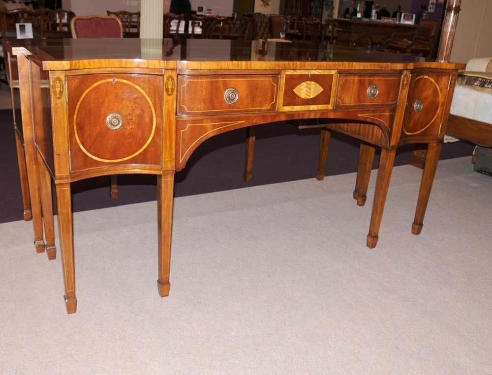 george ii mahogany sideboard buffet server marquetry inlay ebay. Black Bedroom Furniture Sets. Home Design Ideas