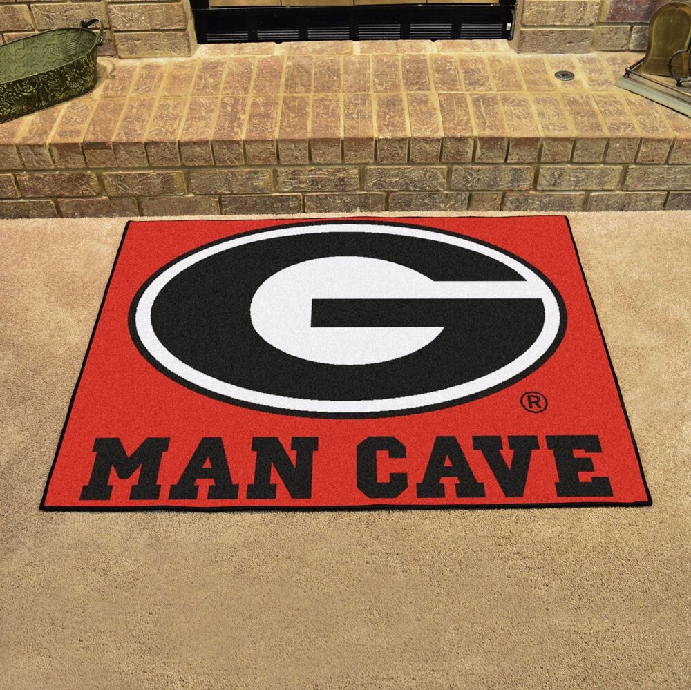 Georgia bulldogs man cave 34 x 43 all star area rug for Georgia floor
