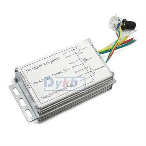 Dc 12v 30a motor speed control pwm hho rc controller ebay for Industrial dc motor controller