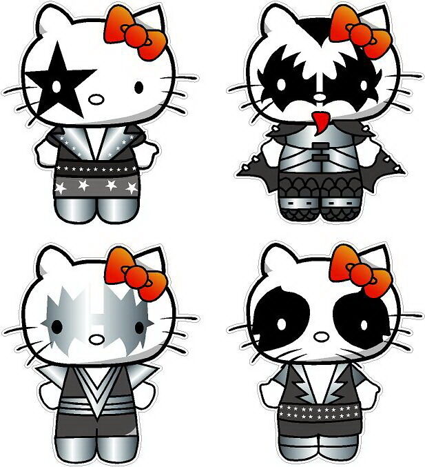 Hello Kitty Kiss Group Decal Stickers Ebay