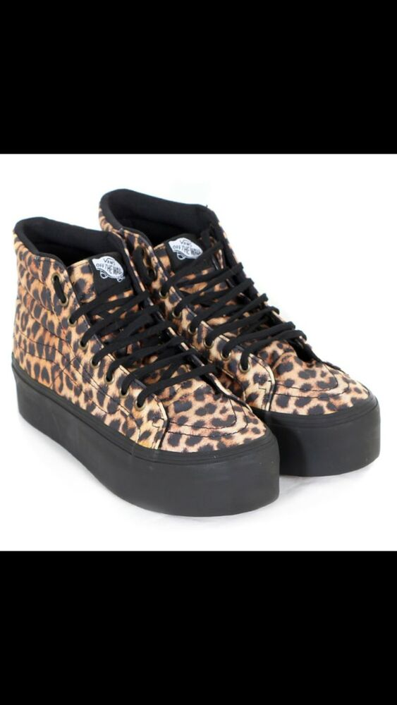 0fbde63f1626 Details about Vans leopard creepers chunky high top
