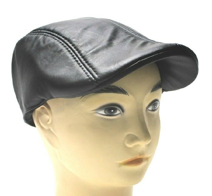 New (100% Sheepskin hat) men's casual hat / taxi driver ...