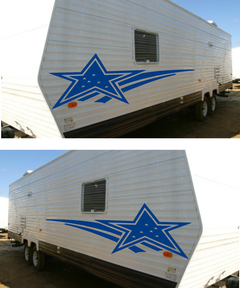 Starcraft decal kit rv sticker decal graphics trailer for Decals for rv mural