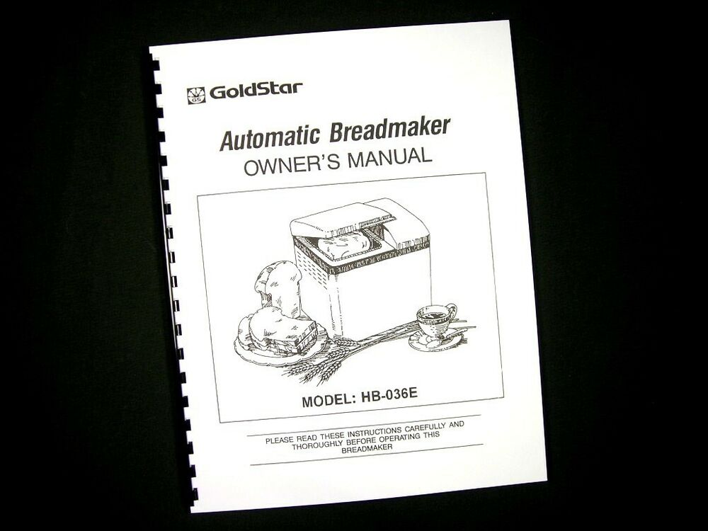 pillsbury bread machine manual
