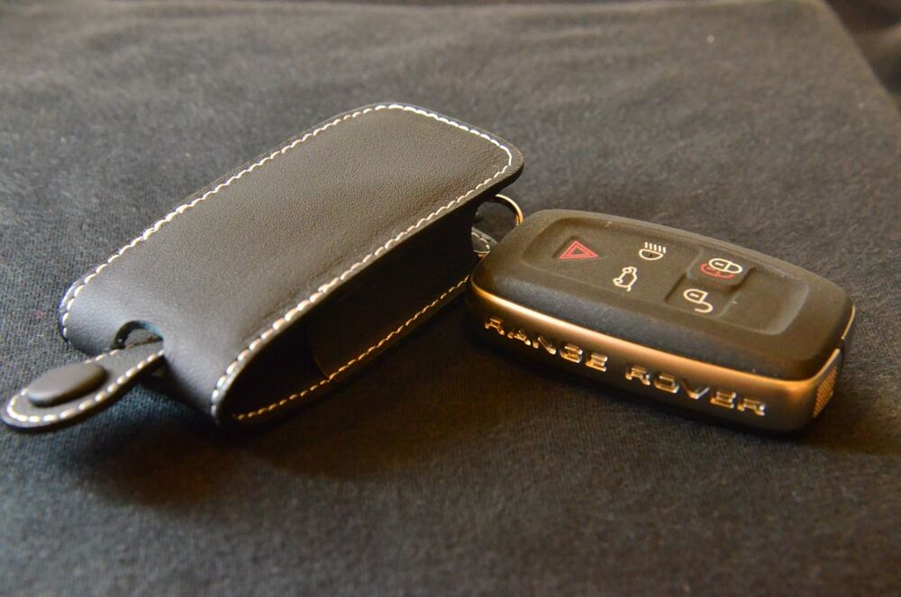 Black With White Stitching Key Case Range Rover Land Rover