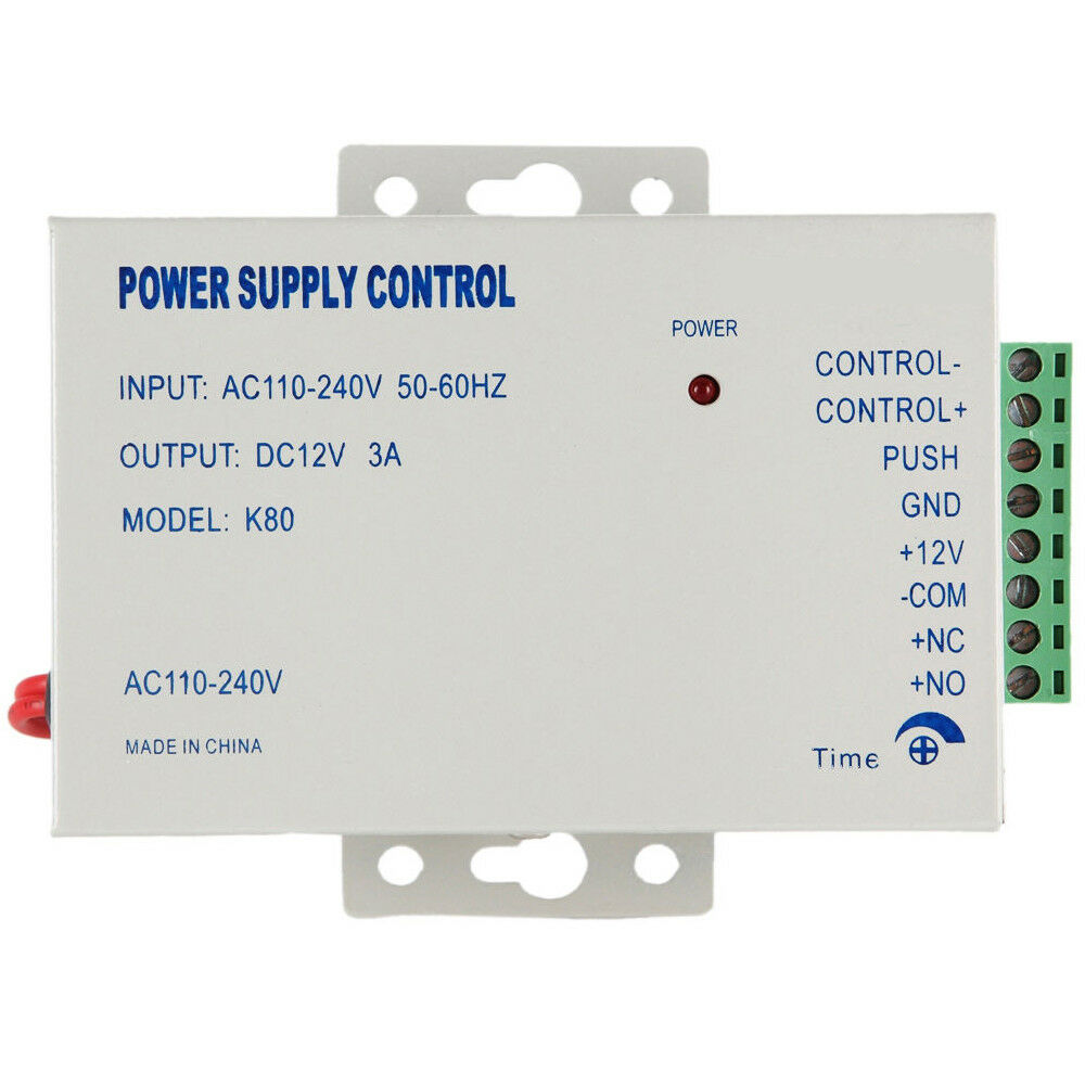 Worldwide voltage ac110 240v to dc12v 3a power supply for for Door access controller